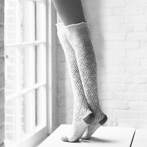 Lemon Legwear Over the Knee Socks